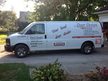 Door Design Inc installation truck